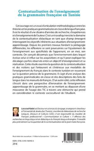 4eme Contextualisation de l'enseignement de la grammaire française et Tunisie