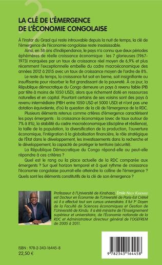 4eme La clé de l'émergence de l'économie congolaise