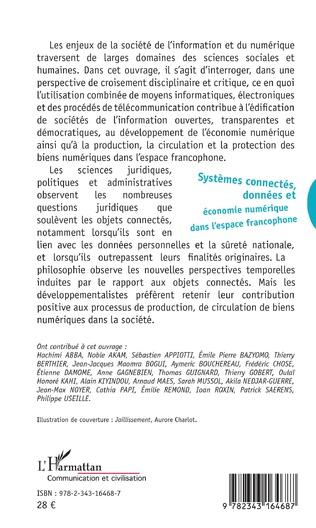 4eme Systèmes connectés, données et économie numérique dans l'espace francophone