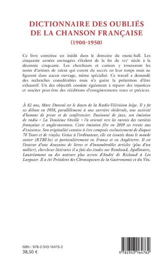 4eme Dictionnaire des oubliés de la chanson française