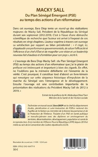 4eme Macky Sall Du Plan Sénégal Emergent (PSE) au temps des actions d'un réformateur