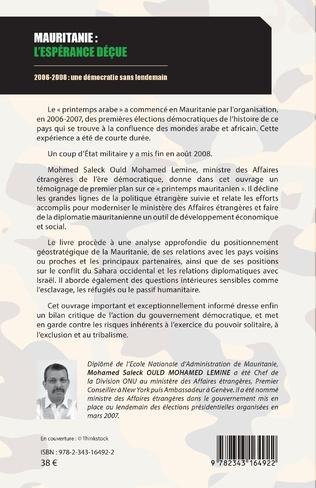 4eme Mauritanie : l'espérance déçue
