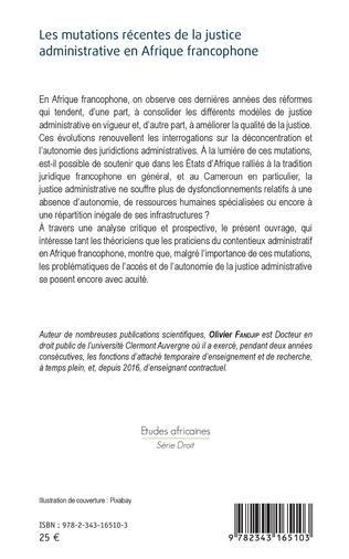 4eme Les mutations récentes de la justice administrative en Afrique francophone