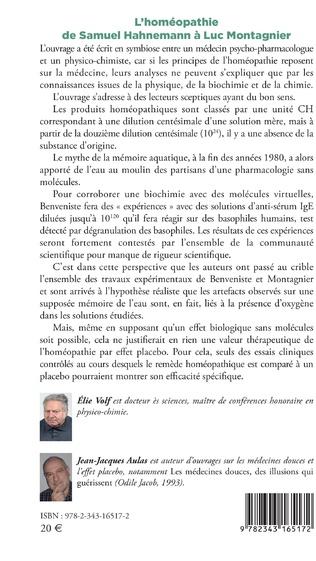 4eme L'homéopathie de Samuel Hahnemann à Luc Montagnier