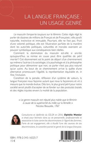 4eme La langue française : un usage genré