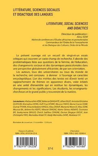 4eme Littérature, sciences sociales et didactique des langues