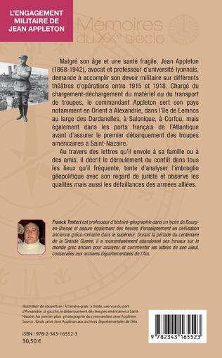 4eme L'engagement militaire de Jean Appleton