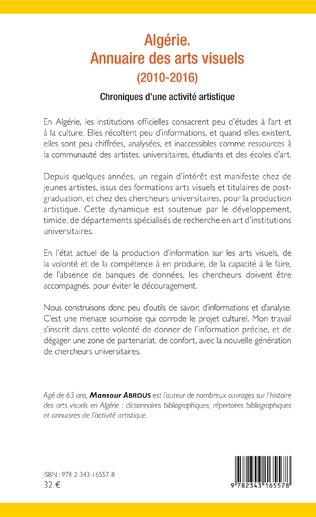 4eme Algérie. Annuaire des arts visuels (2010-2016)