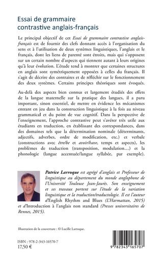 4eme Essai de grammaire contrastive anglais-français