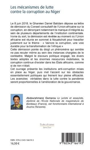 4eme Les mécanismes de lutte contre la corruption au Niger