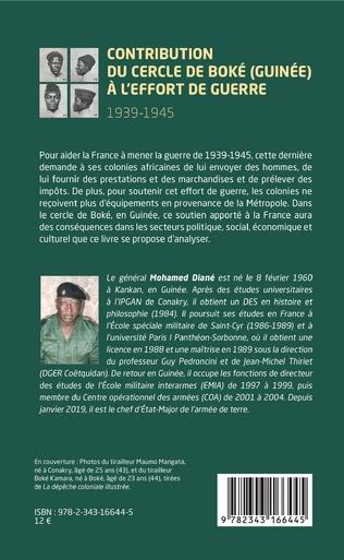 4eme Contribution du cercle de Boké (Guinée) à l'effort de guerre (1939-1945)
