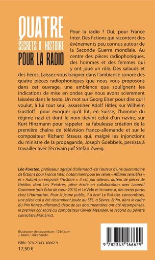 4eme Quatre secrets d'histoire pour la radio