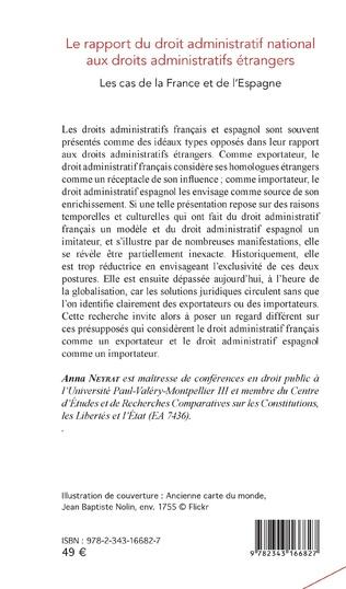 4eme Le rapport du droit administratif national aux droits administratifs étrangers