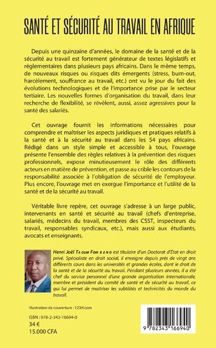 4eme Santé et sécurité au travail en Afrique