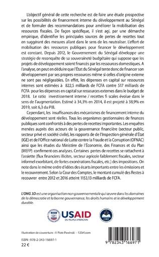 4eme Recherche prospective sur le financement interne du développement