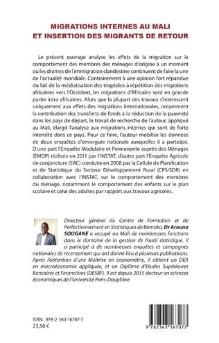 4eme Migrations internes au Mali et insertion des migrants de retour