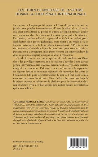 4eme Les titres de noblesse de la victime devant la Cour pénale internationale