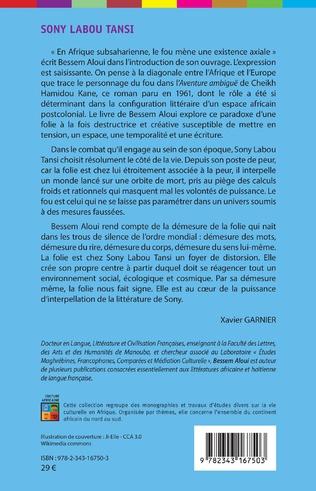 4eme Sony Labou Tansi. Folies romanesques