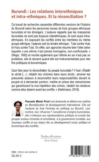 4eme Burundi les relations interethniques et intra-ethniques. Et la réconciliation ?