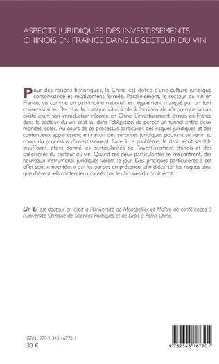 4eme Aspects juridiques des investissements chinois en France