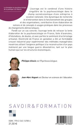 4eme La formation en psychosociologie de la pratique à la théorie