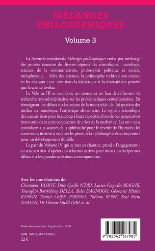4eme Mélanges philosophiques Volume 3