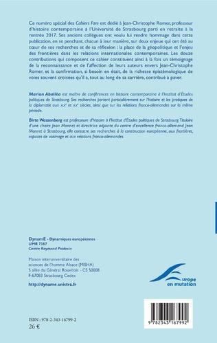 4eme Frontières, géopolitique et relations internationales