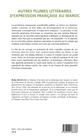 4eme Autres plumes littéraires d'expression française au Maroc