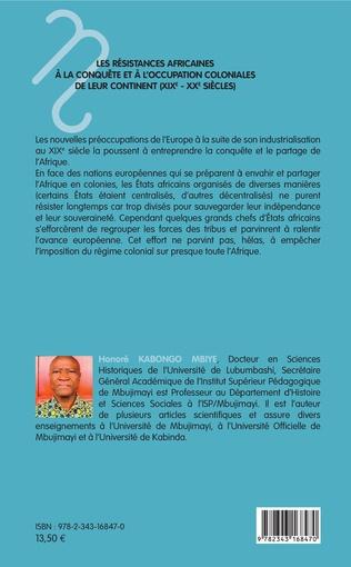 4eme Les résistances africaines à la conquête et à l'occupation coloniales de leur continent (XIXe- XXe siècles)