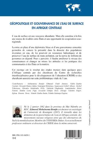 4eme Géopolitique et gouvernance de l'eau de surface en Afrique centrale