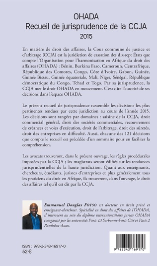 4eme OHADA Recueil de jurisprudence de la CCJA 2015