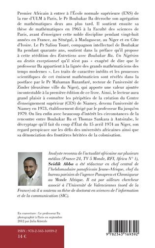 4eme Entretiens avec Boubakar Ba
