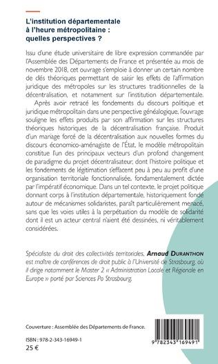 4eme L'institution départementale à l'heure métropolitaine : quelles perspectives ?