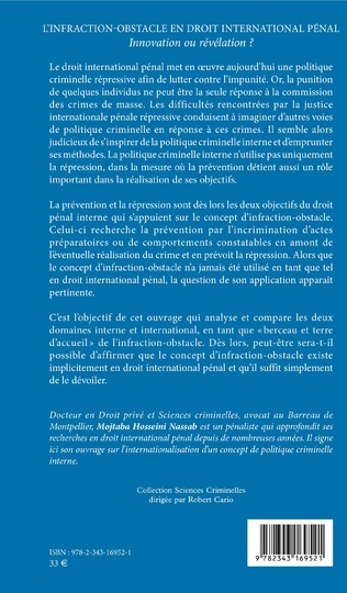 4eme L'infraction-obstacle en droit international pénal