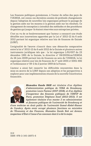 4eme Finances publiques. La modernisation de la gestion des finances publiques en Guinée d'après la loi organique du 6 août 2012