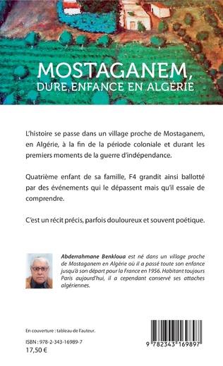 4eme Mostaganem, dure enfance en Algérie