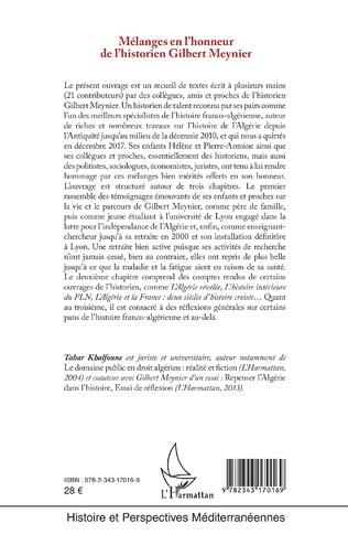 4eme Mélanges en l'honneur de l'historien Gilbert Meynier