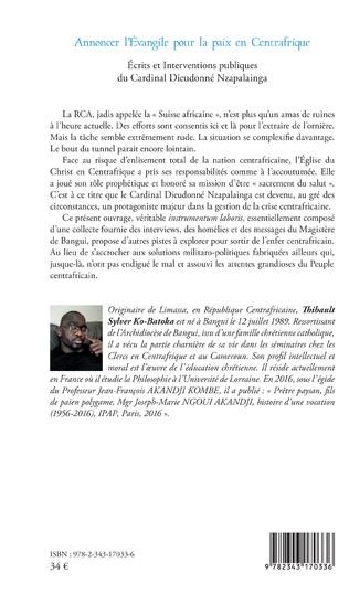 4eme Annoncer l'Evangile pour la paix en Centrafrique