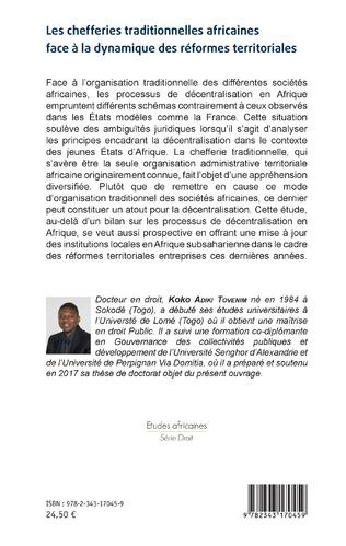 4eme Les chefferies traditionnelles africaines face à la dynamique des réformes territoriales