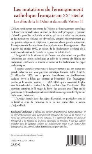 4eme Les mutations de l'enseignement catholique français au XXe siècle