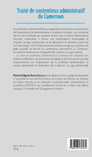 4eme Traité de contentieux administratif au Cameroun
