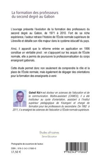 4eme La formation des professeurs du second degré au Gabon (1971-2010)