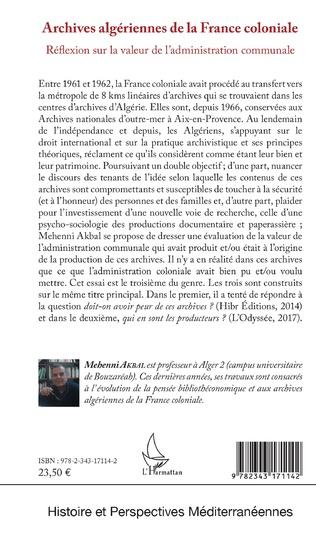 4eme Archives algériennes de la France coloniale