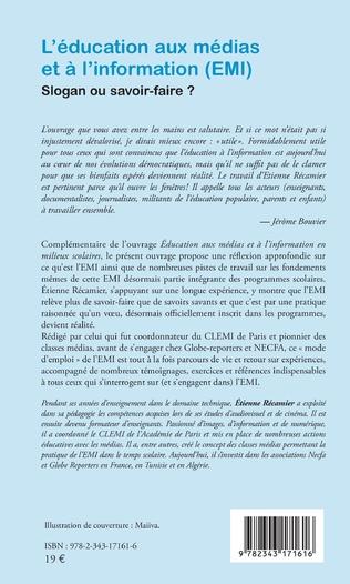 4eme L'éducation aux médias et à l'information (EMI)