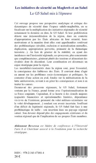 4eme Les initiatives de sécurité au Maghreb et au Sahel