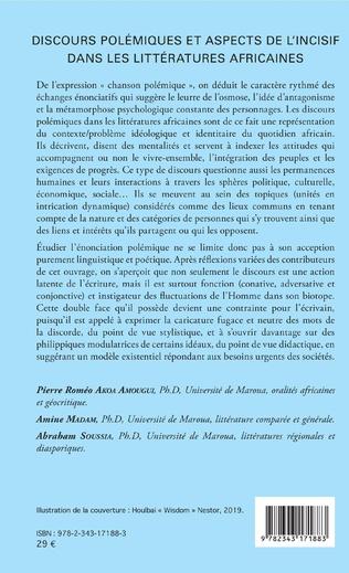 4eme Discours polémiques et aspects de l'incisif dans les littératures africaines