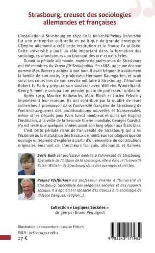4eme Strasbourg, creuset des sociologies allemandes et françaises