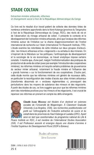 4eme Stade Coltan. Extraction minière artisanale, réformes et changement social