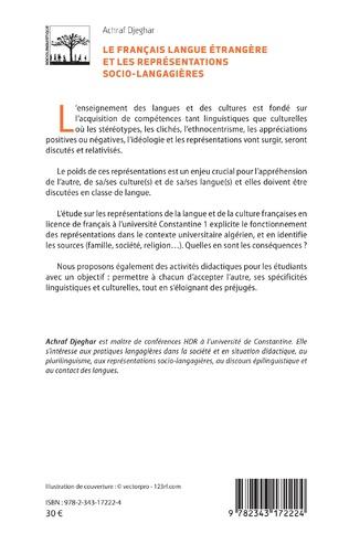 4eme Le français langue étrangère et les représentations socio-langagières