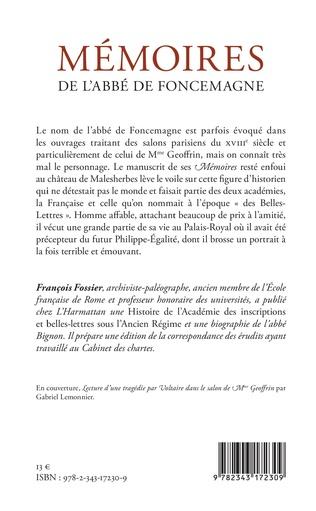 4eme Mémoires de l'abbé de Foncemagne